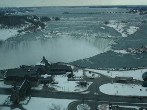 The View of  Niagara Falls from our Suite! Amazing, right?