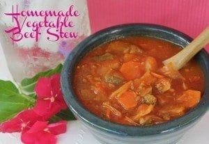 Vegetable Stew, home made