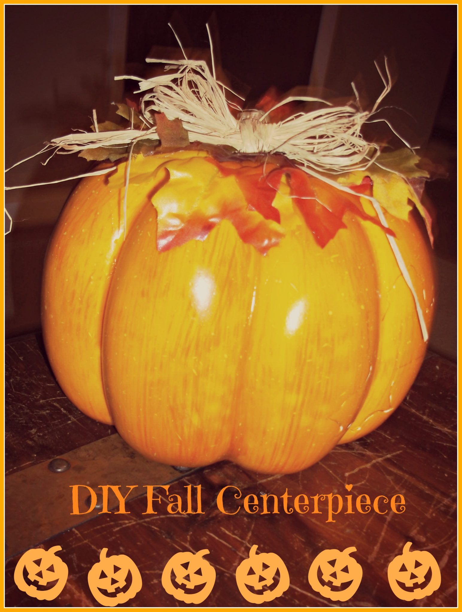 Halloween Pumpkin Centerpiece Decoration