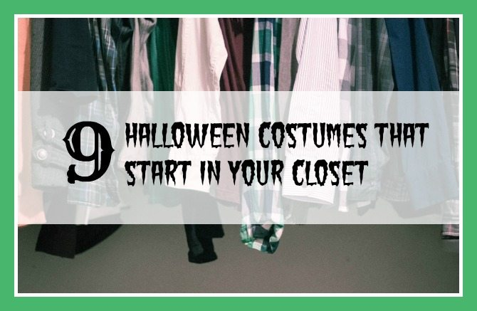 Make Halloween Costumes from Closet!