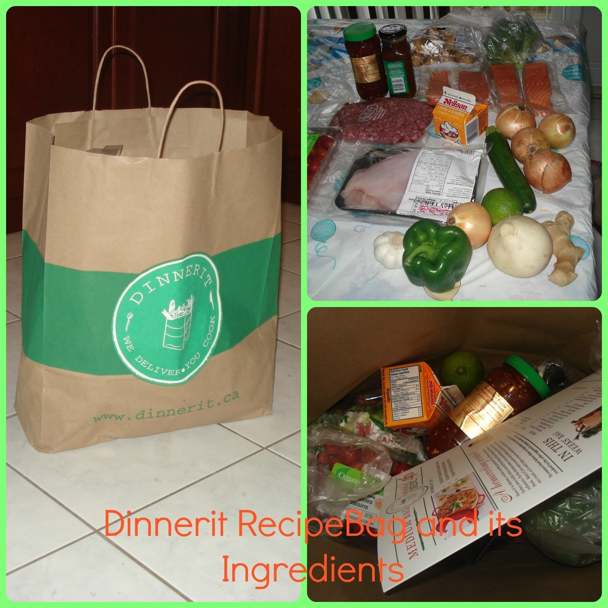 3 Dinners in a recipe Bag from Dinnerit!