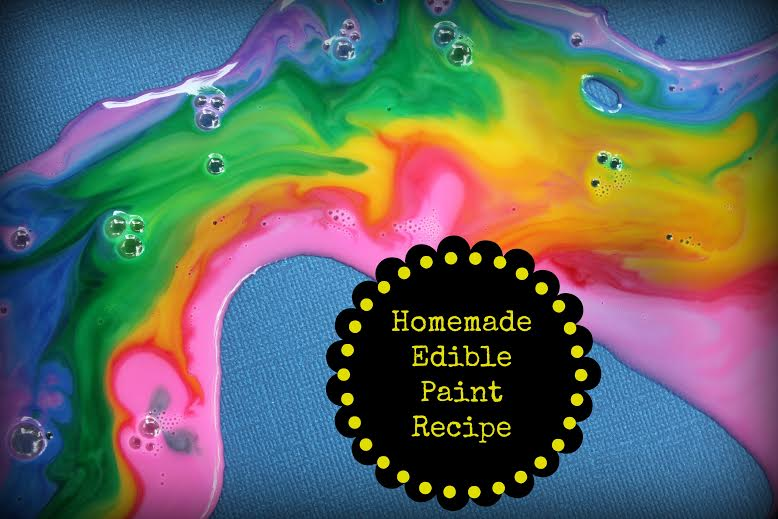 How to Make edible Paint for Kids Craft