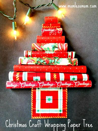 Christmas Crafts: Wrapping Paper Tree