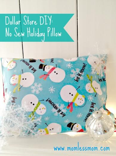 Dollar Tree DIY: No Sew Holiday Pillow