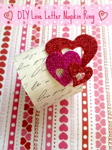 Valentine's Day DIY: Letter Napkin Ring Holder
