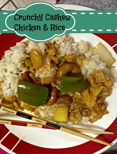 Crunchy Cashew Chicken & Rice- Recipe