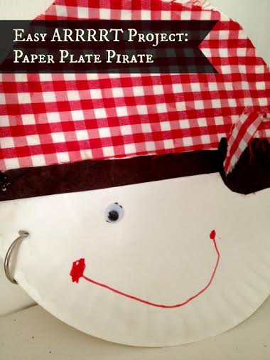 Easy Art Project for Kids: Paper Plate Pirate