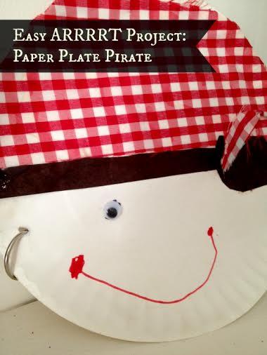 Easy ARRRRRRT Project: Paper Plate Pirate