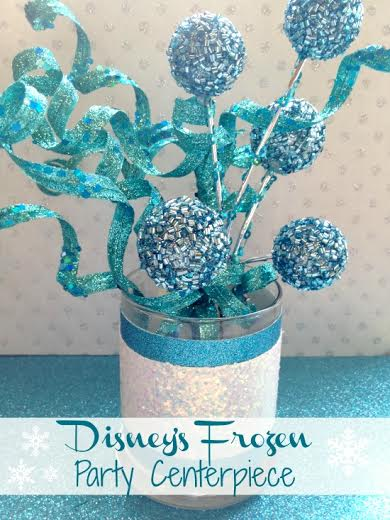 Frozen Inspired Party Theme ideas-Centerpiece - Craft