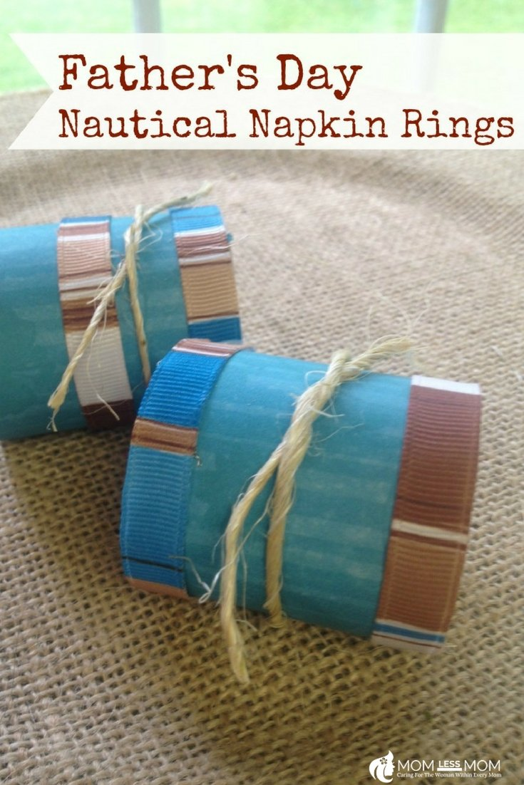 This Fathers day craft idea, Nautical Napkin Ring is quite easy to make and cost little for the supplies! #DIY #Fathersdaycrafts