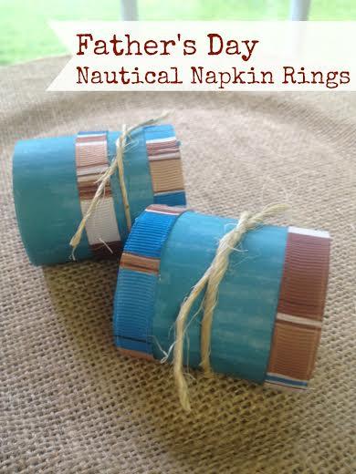 Fathers Day craft idea- Nautical Napkin Ring