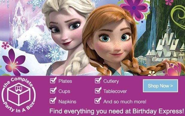 FROZEN Party supplies from Birthday Express