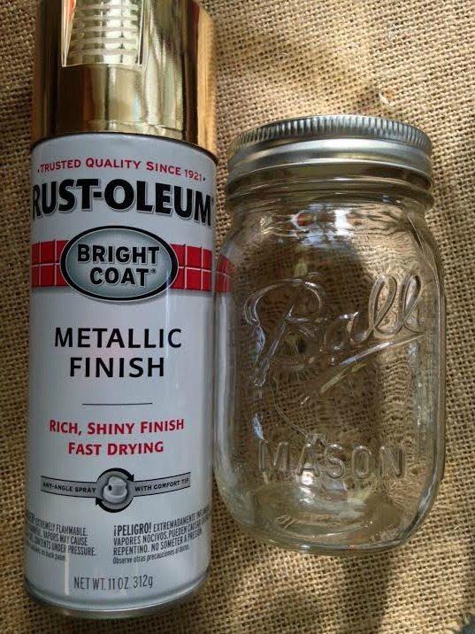 Mason Jar Crafts Ideas- Gorgeous Golden Mason Jar