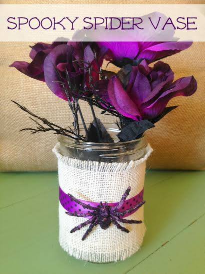 Halloween Craft- Spooky Spider Vase