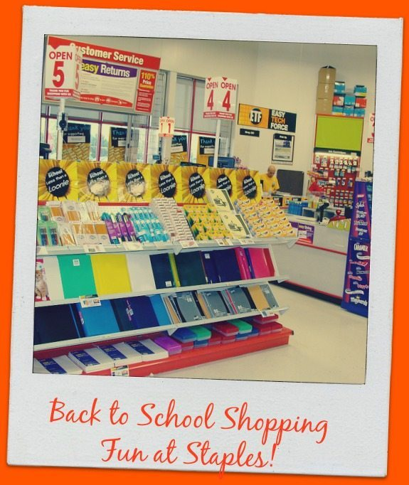 Back to School Shopping With Staples
