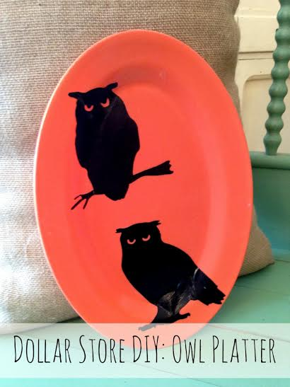Easy Halloween Craft Ideas- Owl Platter DIY