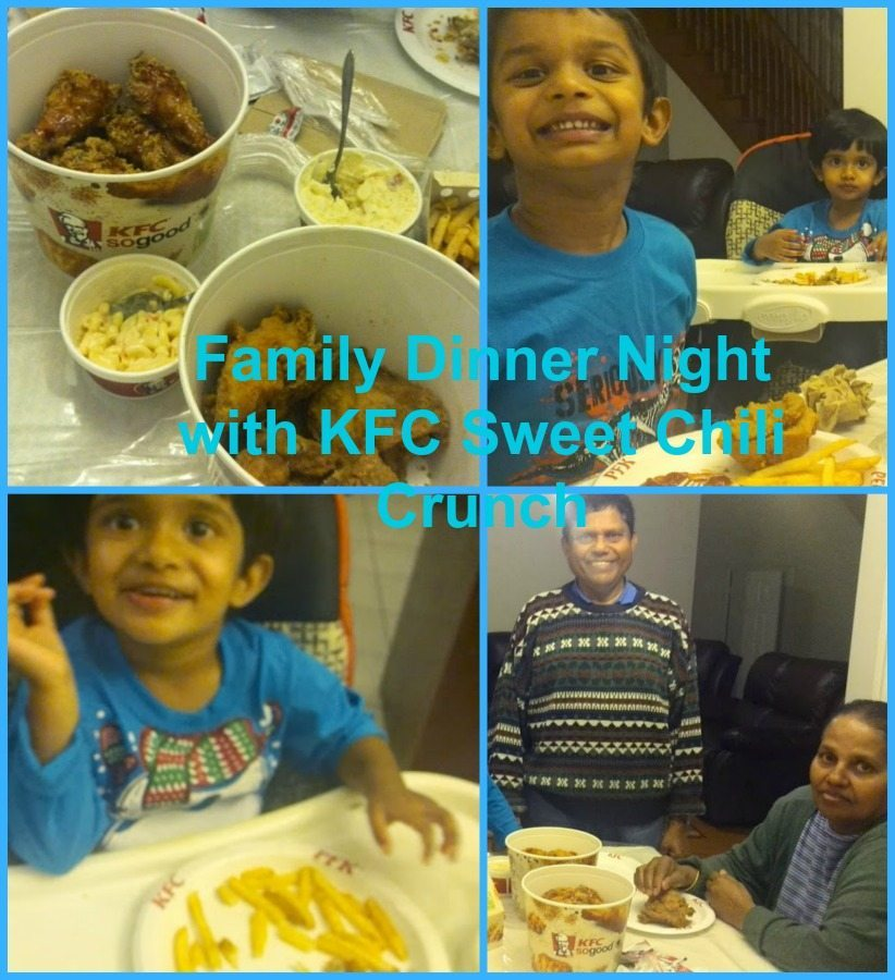 Family Dinner with KFC Chicken
