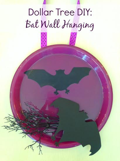 Easy Halloween Craft Ideas- Bat Wall Hanging