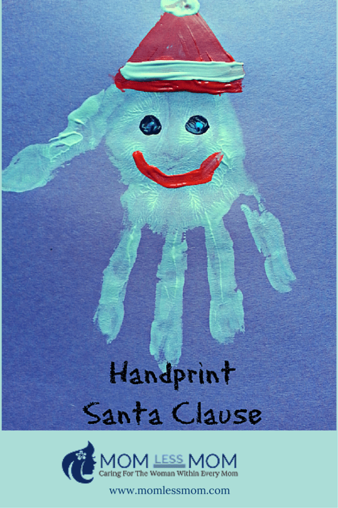 Easy Christmas Craft- Hand Print Santa Claus