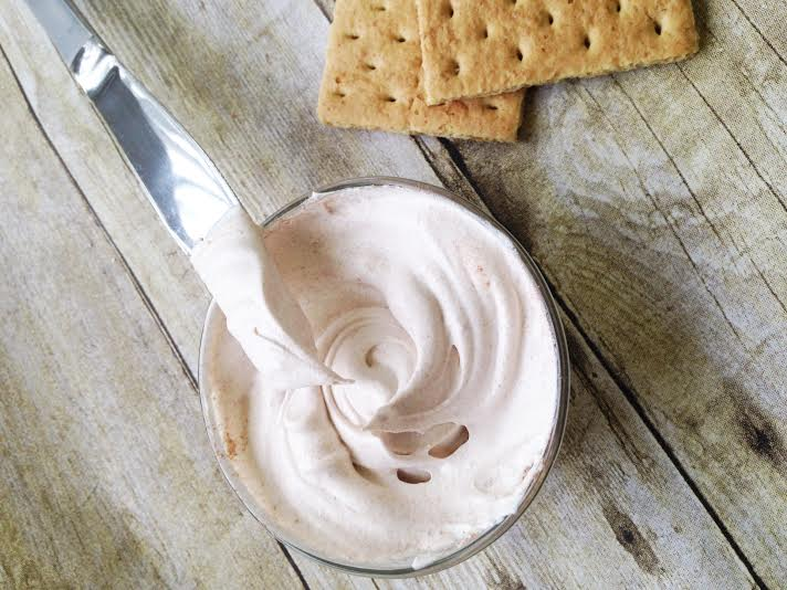 Easy No Bake Dessert Recipes-S'mores Infused Whipped Cream!