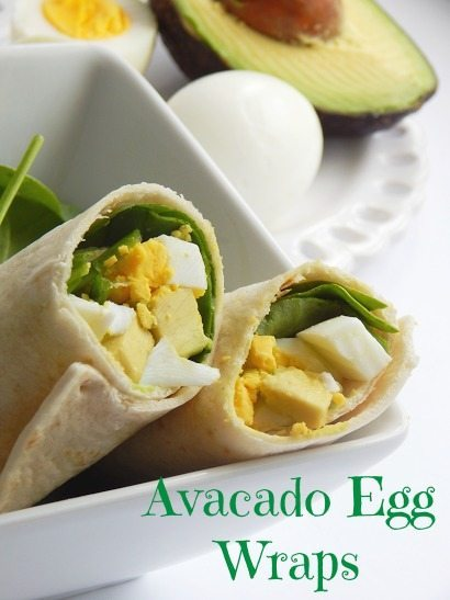 fast and easy dinner recipes for busy families- Avacado Egg Wrap