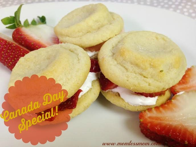 Canada Day Dessert- Strawberry Shortcake Mini Bites