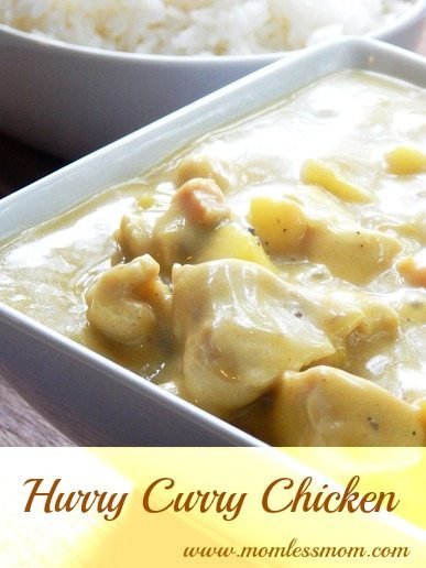 quick meals for busy families- Hurry Curry Chicken