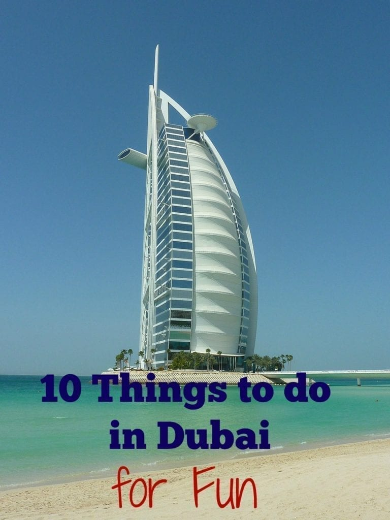 10 Things to do in Dubai for Fun