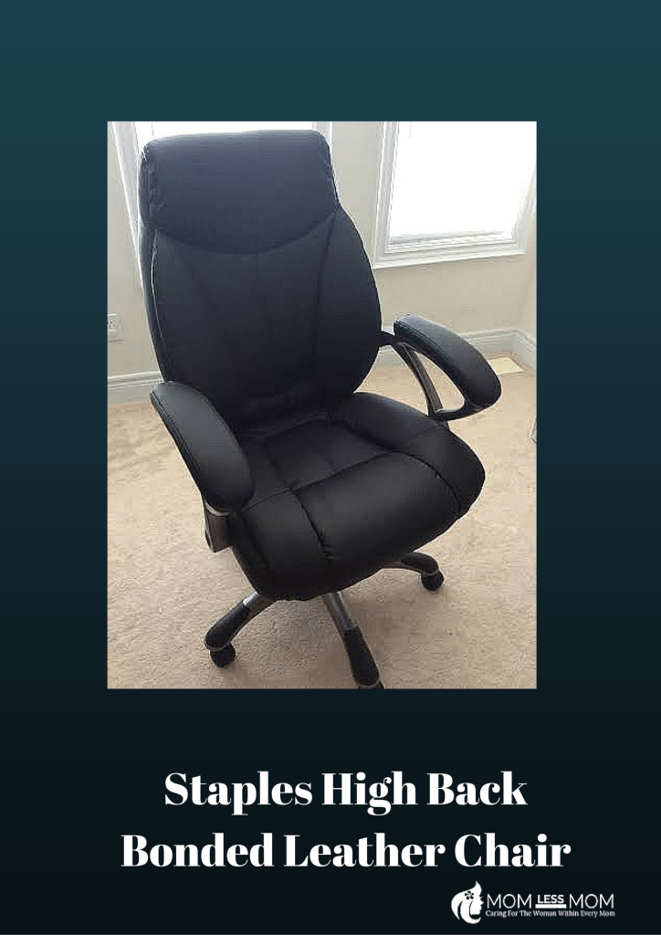 Staples High Back Bonded leather Chair (1)