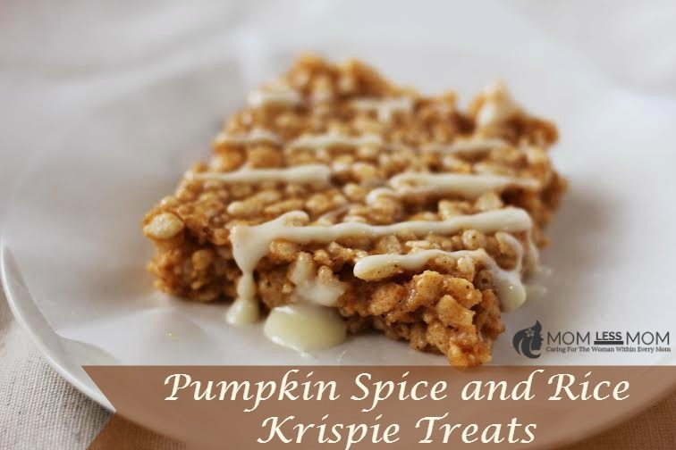 pumpkin spice and rice krispie treats