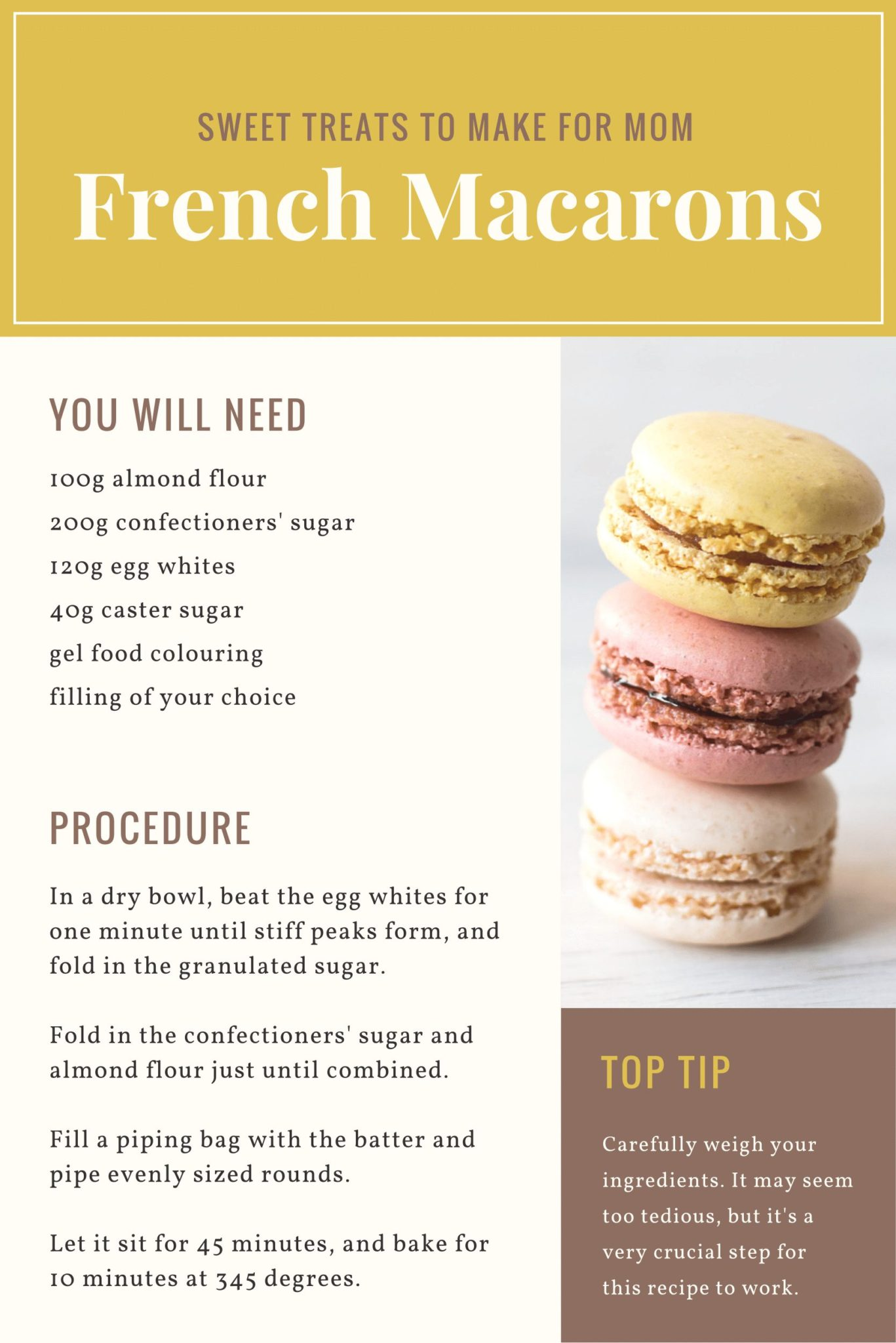 Recipe for French Macaroons