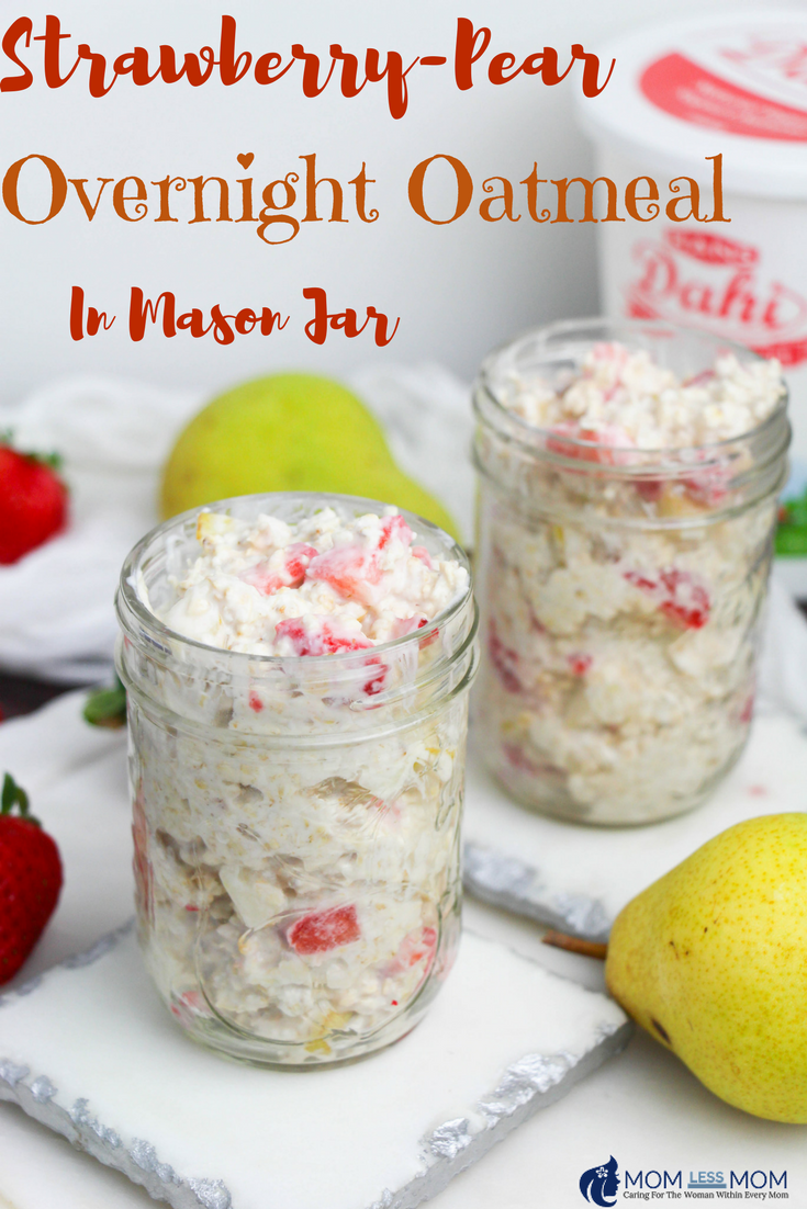 Strawberry Pear Overnight Oatmeal Recipe