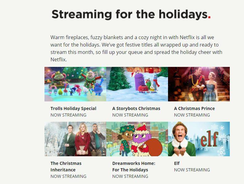 Netflix spreads holiday cheer