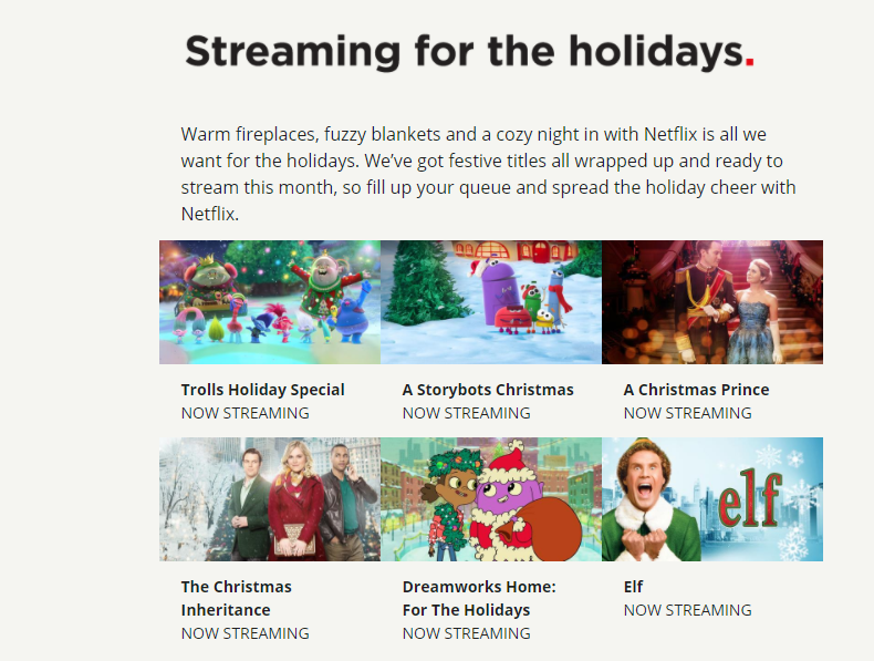 Netflix spreads holiday cheer