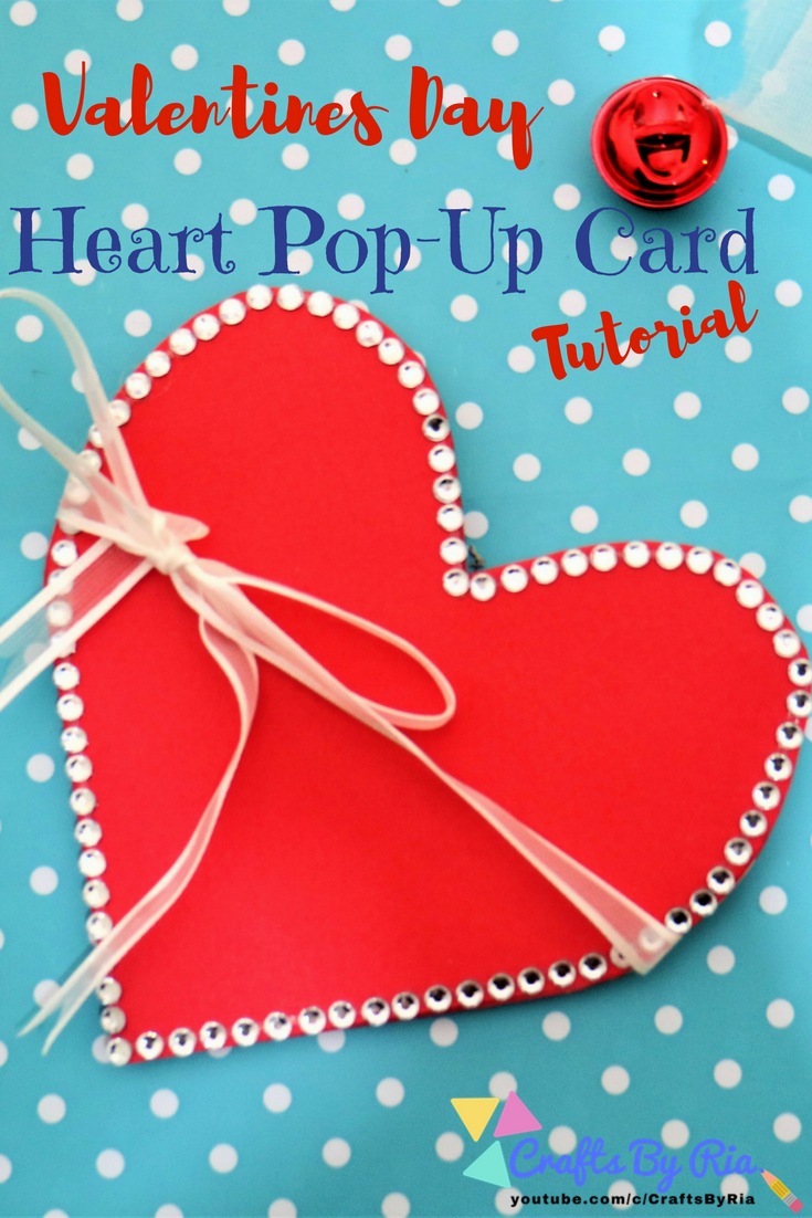 This valentines day craft, heart pop up card idea is great to do with kids. So easy to make and costs very little for supplies. Make your own heart pop card today!