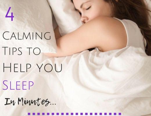 4 calming tips to help you sleep