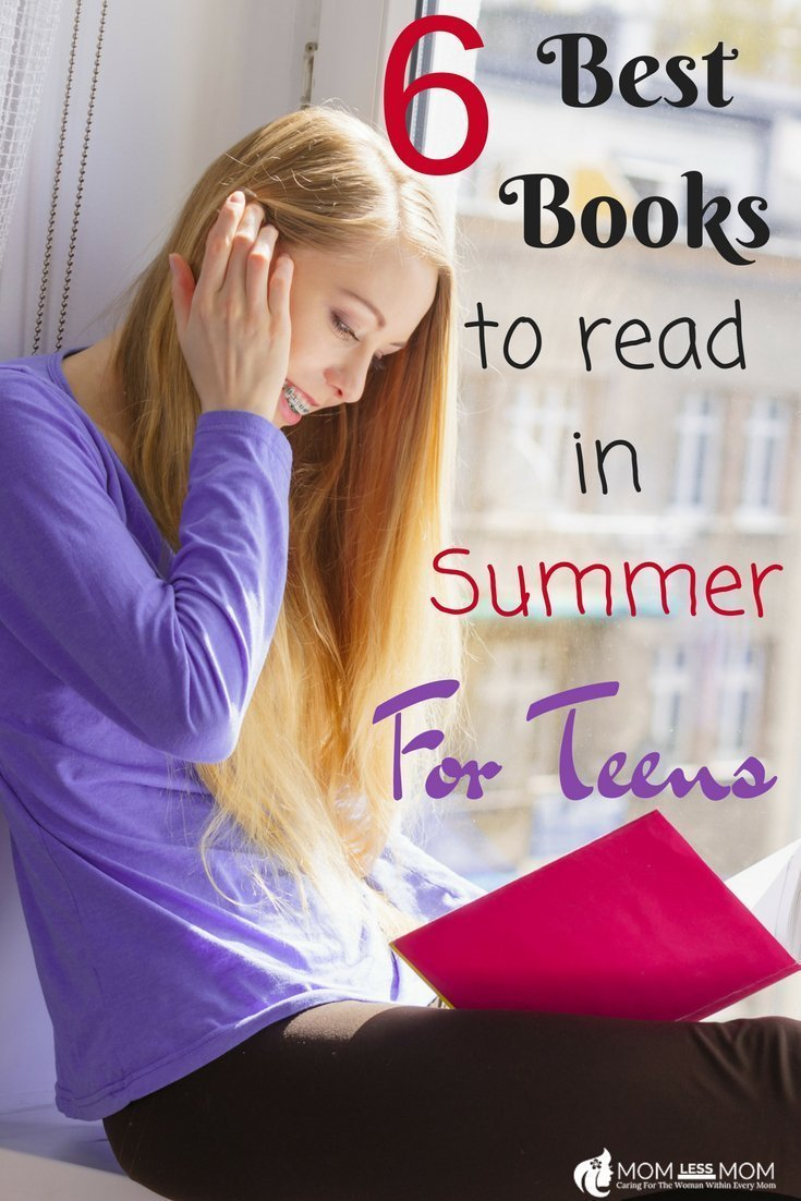If you are looking to nurture a love of reading in your teen, start with this list of 6 best books to read this summer #readinglist #summerbooks #teenagers #parenthood