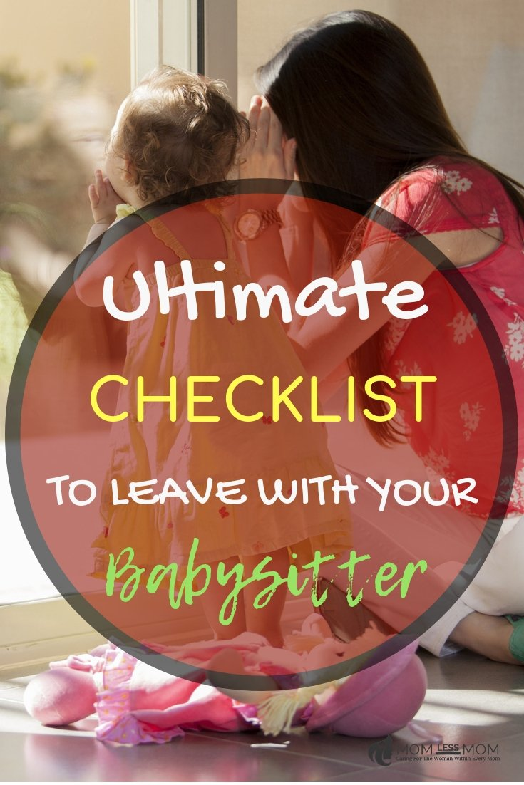 This ultimate checklist to leave with your babysitters will make sure they are prepared for anything that could happen, and you can leave your kids at home with peace of mind. #babysitterchecklist #babysittingtips