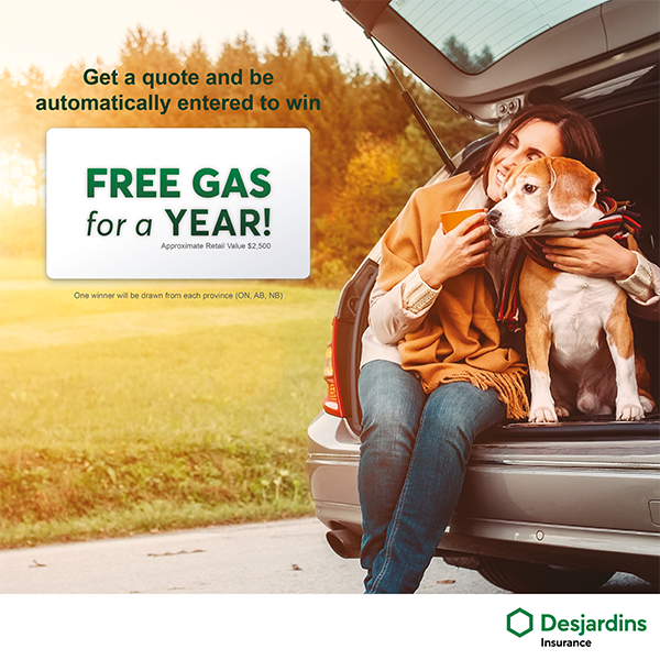 Desjardins Free gas for a year contest!