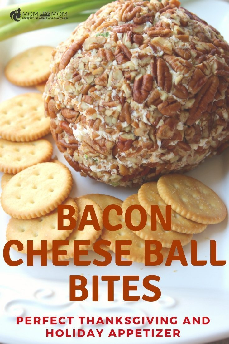 If you are looking for a perfect appetizer for upcoming Thanksgiving or holiday parties, look no further than these delicious bacon cheese ball  bites. Quick and easy to make, 'pecans add a nice touch to the spread! Get the recipe #recipes Classic Cheese Ball Recipe