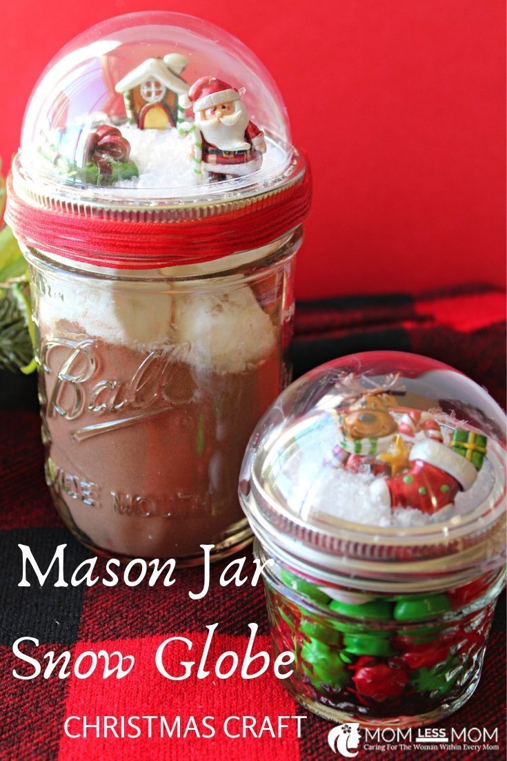 DIY mason jar snow globe is your thing, try this one. Relatively easy to make. How to make a Christmas snow globe